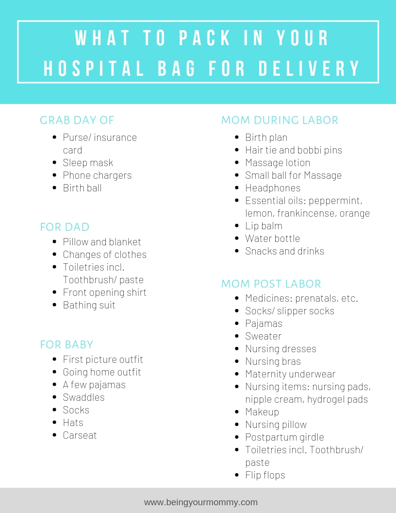 photograph relating to Printable Hospital Bag Checklist known as Clinic Bag Packing Record for Kid: Cost-free Printable - Staying